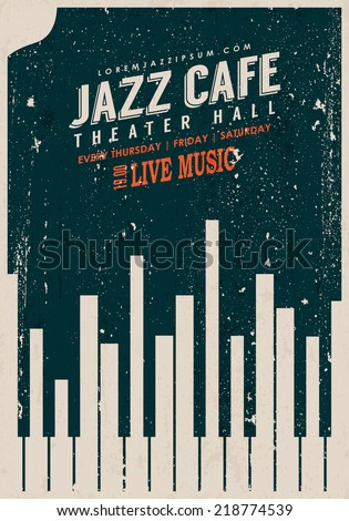 vector vintage jazz music