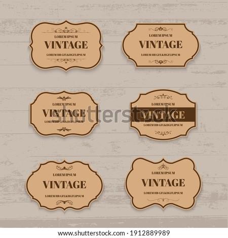 Vector vintage label and frame design element.