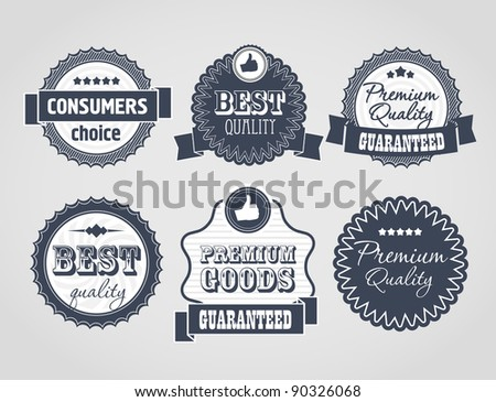 Vector vintage labels, discount labels set - stock vector