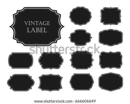 Vector vintage labels.Set of badges and frames.