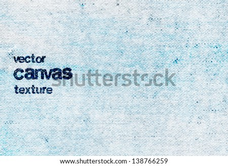 Vector vintage light blue grungy canvas background