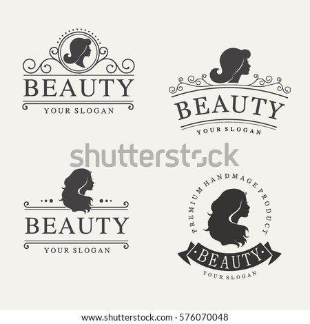 vector vintage logo set for...