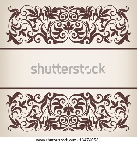 Vintage Ornate Vector Vector Vintage Ornate Border