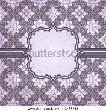 Vector vintage pattern and frame for design