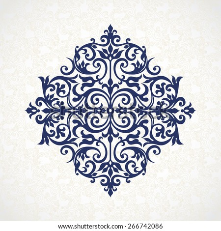 Victorian Design vector vintage pattern in victorian style. ornate element for