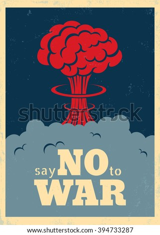 vector vintage poster  say no