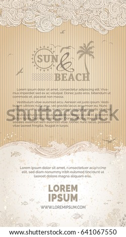 vector vintage sea background