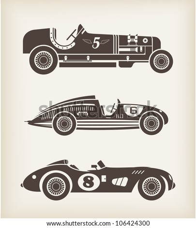 Auto Racing Banners on Vector Vintage Sport Racing Car   106424300   Shutterstock