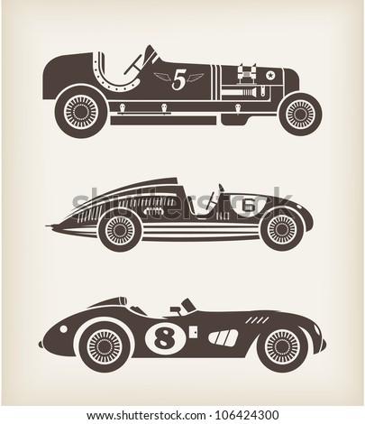 vector vintage sport racing car