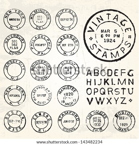Vector images illustrations and cliparts vector vintage stamp set vector vintage stamp set all pieces are separated and easy to edit maxwellsz
