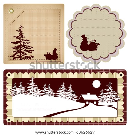 Vector vintage Style background Christmas and winter theme for decoration and design