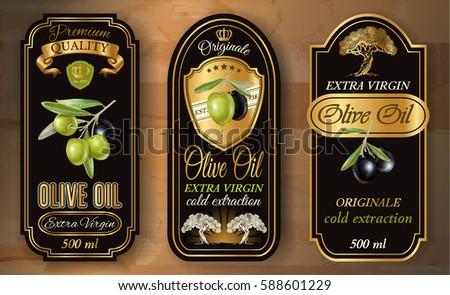 vector vintage style olive oil...