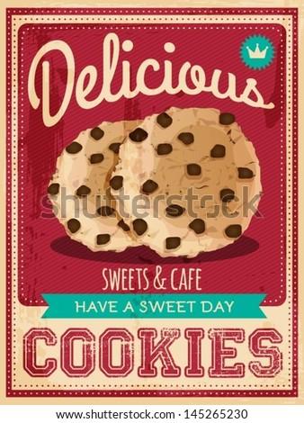 vector vintage styled cookies