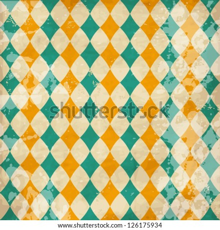 Vector vintage texture with rhombuses