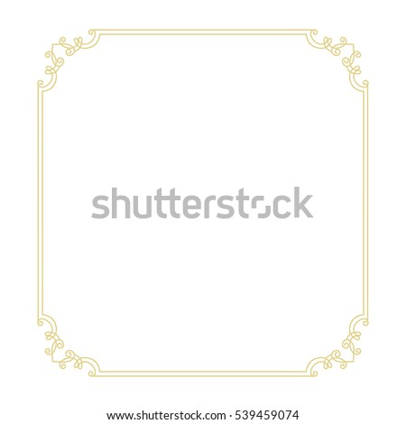 stock-vector-vector-vintage-thin-gold-frame-for-your-design-vintage-cover-place-for-text