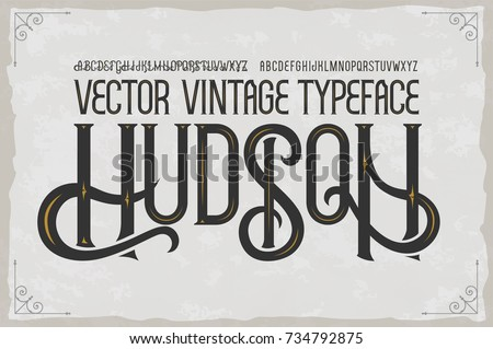 vector vintage typeface hudson
