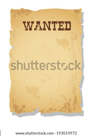 vector vintage wanted poster