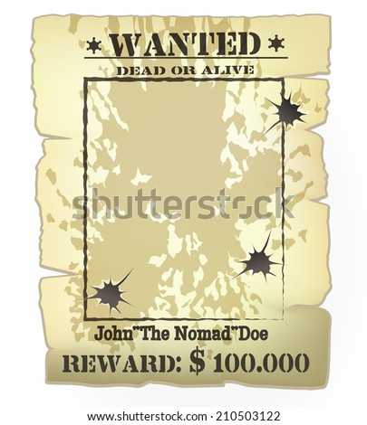 vector vintage western wanted