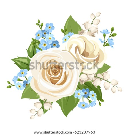 vector vintage white and blue