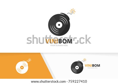 vector vinyl and bomb logo