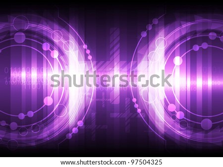 vector violet abstract background technology design
