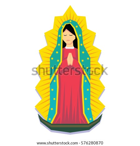 vector virgin of guadalupe