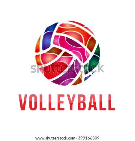 vector volleyball logo