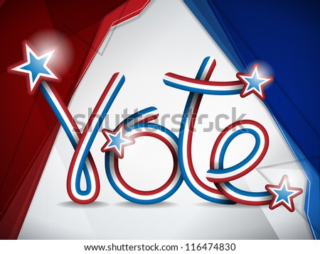 Vector - Vote USA Presidential Election Ribbon