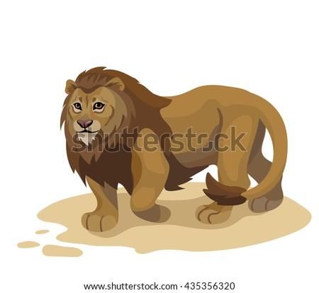 vector walking lion
