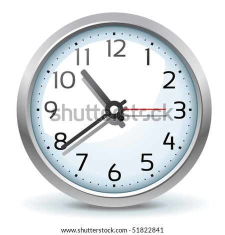 vector wall clock icon - stock vector
