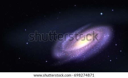 vector wallpaper with a galaxy
