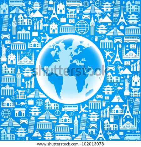 vector Wallpapers or background travel, vacation, famous places