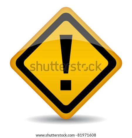 Vector warning sign with exclamation point, eps10 illustration