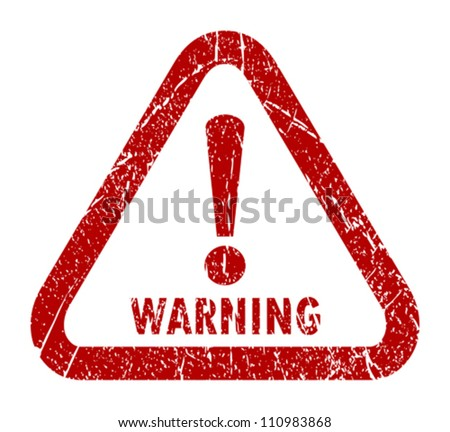 Vector warning stamp