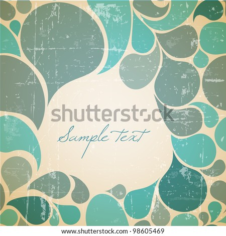 Vector water abstract retro background with place for your text - stock vector