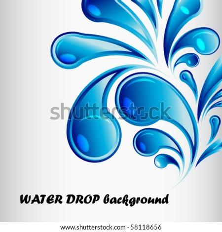 vector water drop background