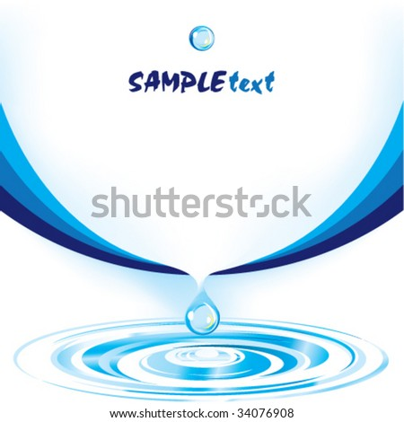 Water Design Vector Vector Water Drop Design