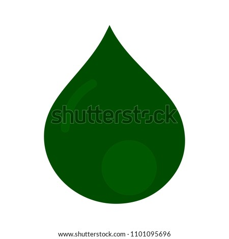 vector water drop illustration, nature rain symbol isolated