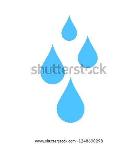 vector water drops illustration, nature icon - water raindrops
