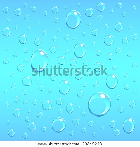 wallpapers water drops. water drops on blue glass.