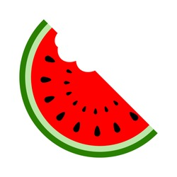 vector water melon, watermelon slice fruit illustration, fresh healthy food - organic natural food isolated