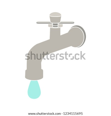 vector water tap sign drop sign isolated - plumbing illustration symbol - flow water illustration sign symbol