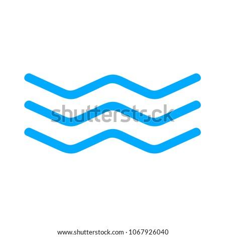 vector Water wave,  river Water illustration - nature element, ocean or sea symbol