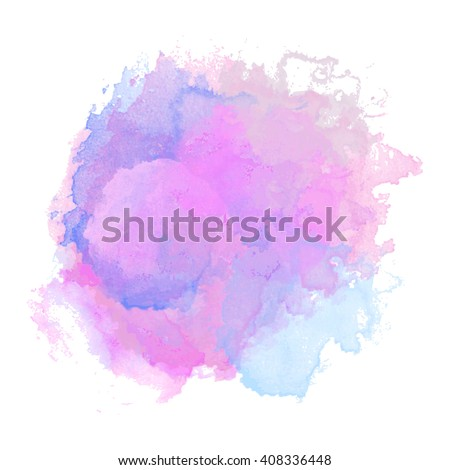 Vector watercolor background isolated. Watercolor texture, stains, splash. Pastel, pink, light, transparent tone.