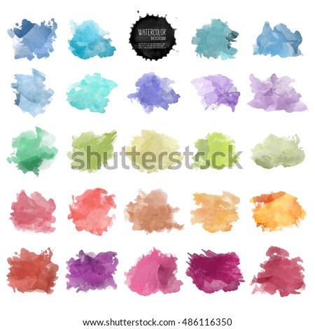 Vector watercolor background. Real watercolor texture. Watercolor splashes and dots texture. Artistic hand drawn background.