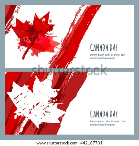 vector watercolor banners and