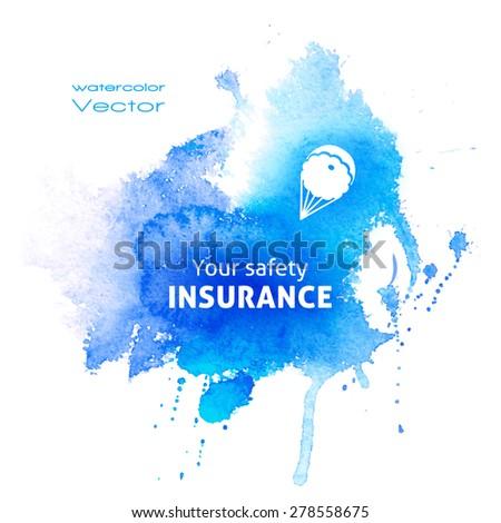 vector watercolor blue