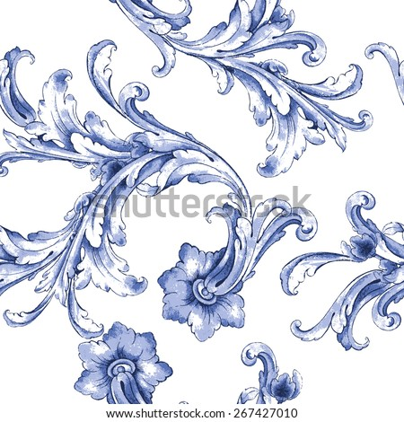 vector watercolor blue texture