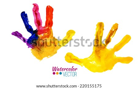 vector watercolor colorful