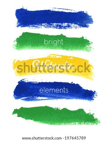 vector watercolor design